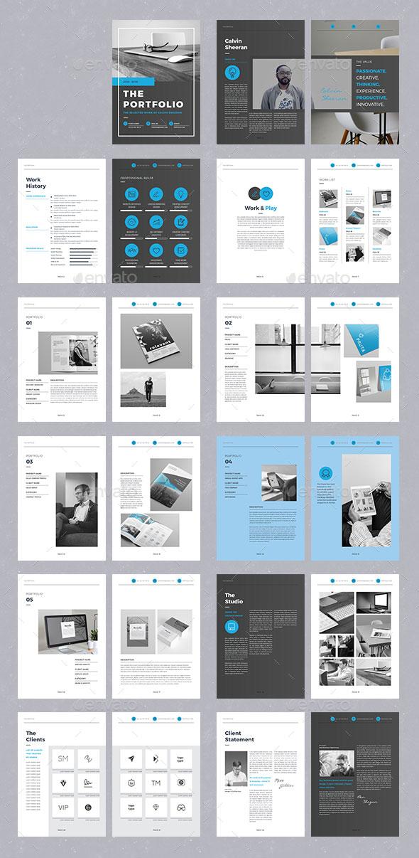 25 really awesome portfolio brochure templates  u2013 bashooka