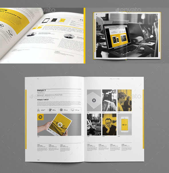 Really Awesome Portfolio Brochure Templates Web Graphic - Template for brochure