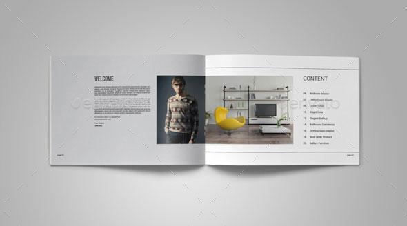 Graphic Design Print Portfolio Layout