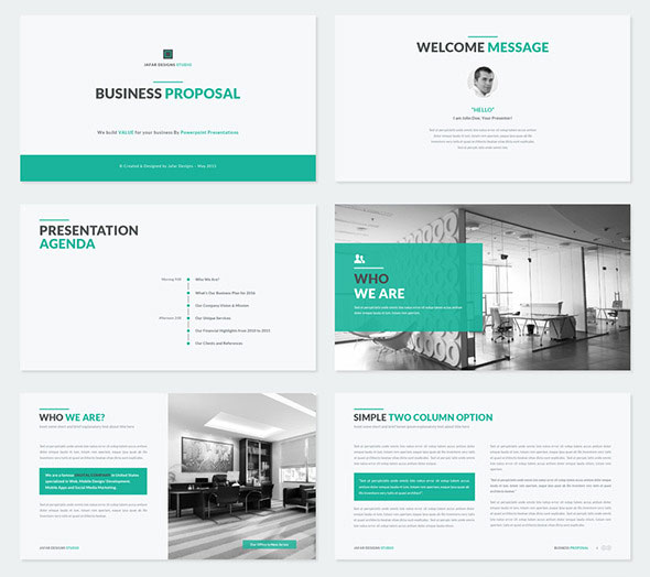 50 powerpoint templates to kickstart your presentation web business proposal powerpoint template friedricerecipe Image collections