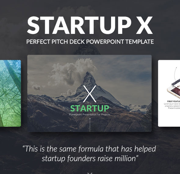 Startup X – Perfect Pitch Deck Powerpoint Template