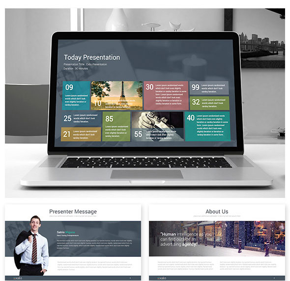 Exalio - Powerpoint Template