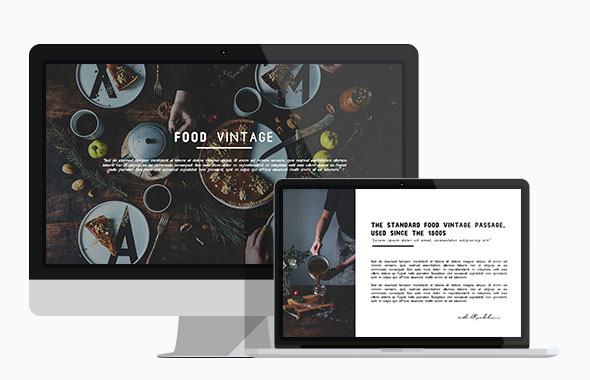 Food Vintage Presentation