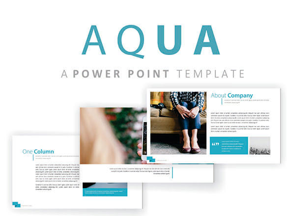 Aqua PowerPoint Template