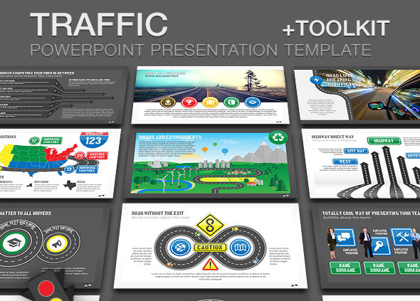 Traffic PowerPoint Presentation Template + Toolkit