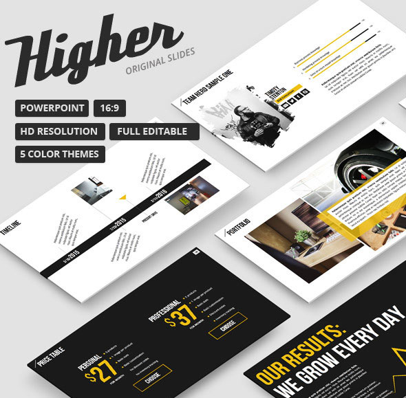 Higher - Creative PowerPoint Template