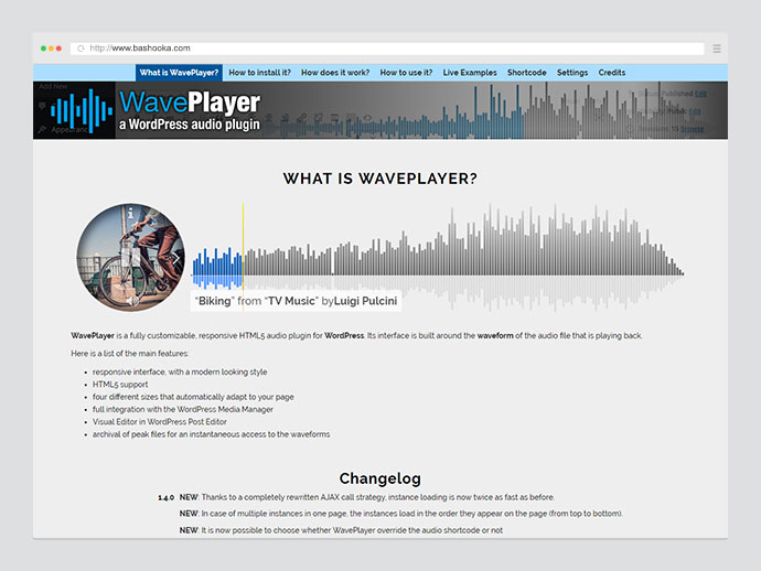 WavePlayer - a WordPress audio player