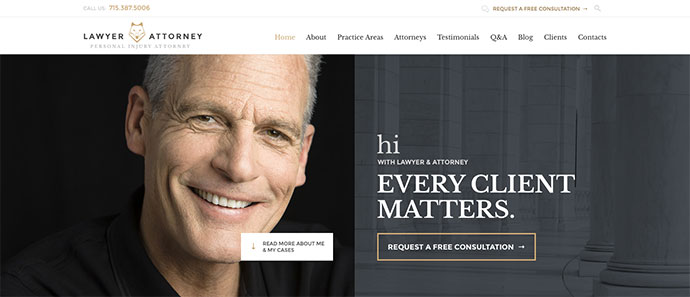 Lawyer & Attorney - Theme for Lawyers Attorneys and Law Firm