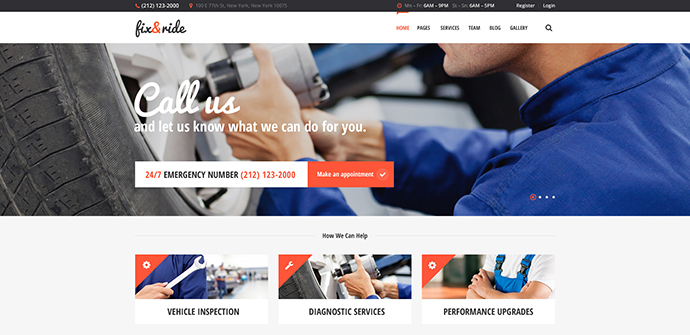 Fix & Ride | Automechanic & Car Repair Theme