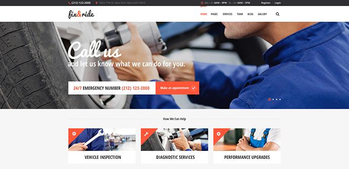 Fix & Ride | Automechanic & Car Repair Theme