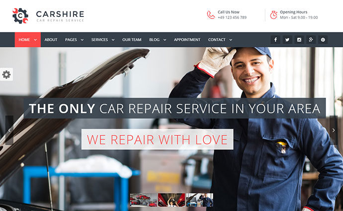 Car Shire  Auto Mechanic & Car Repair WordPress Theme