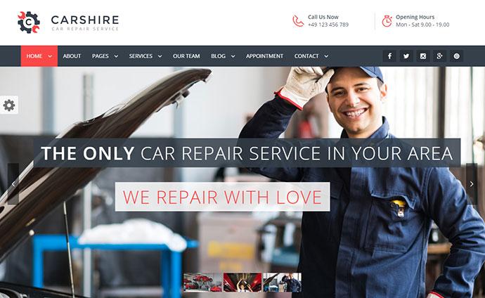 Car Shire  Auto Mechanic & Car Repair WordPress Theme