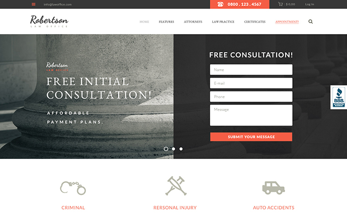Law Office | Lawyers Attorneys Legal Office Theme