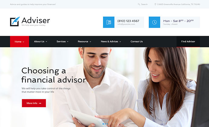 Adviser | Finance & Accounting WordPress Theme