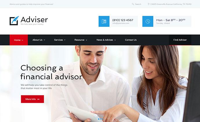 Adviser | Finance & Accounting WordPress Theme