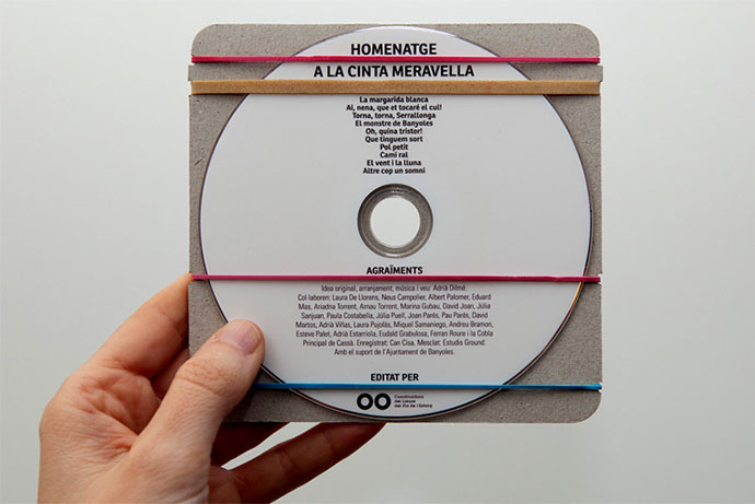 CD designed for monitors of entertainment activities
