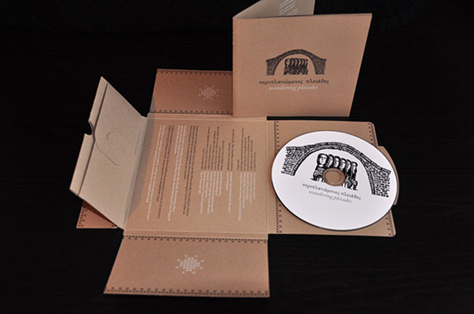 Single cut for the case which folds to host the cd and the booklet, without the use of glue