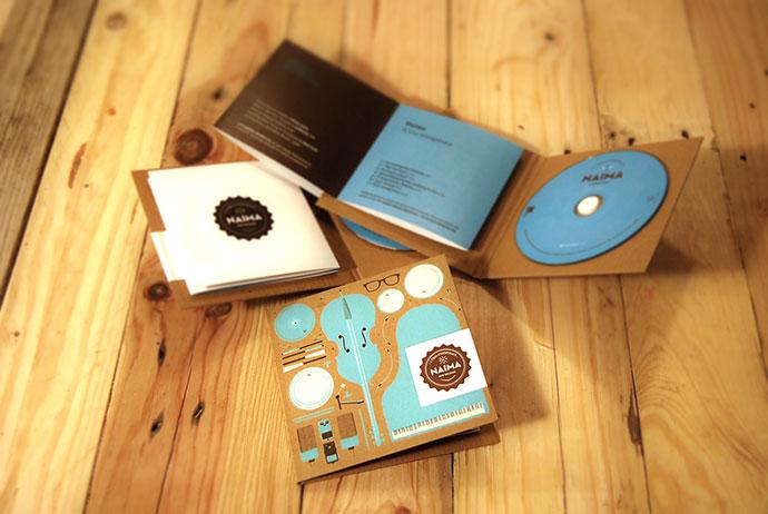 CD packaging. Naima Jazz Trio.