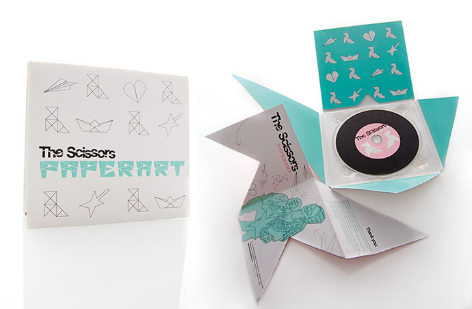 THE SCISSORS - Cd packaging