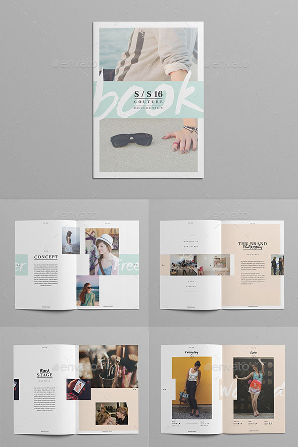 20 gorgeous indesign lookbook template designs web for Indesign interior