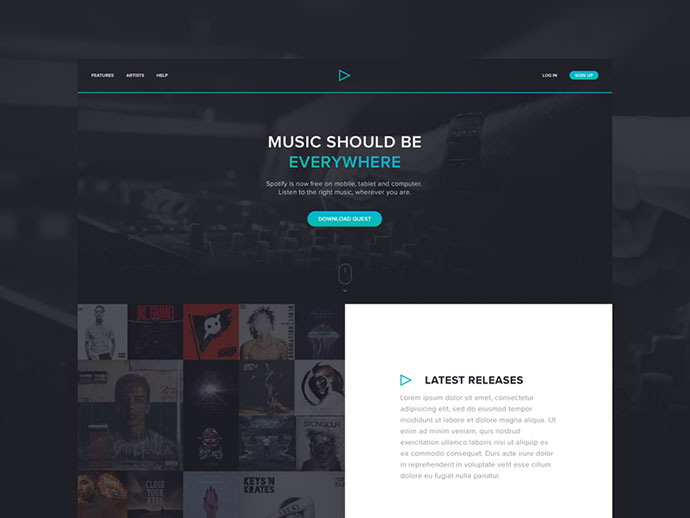 Music Theme Concept by Jamie Syke