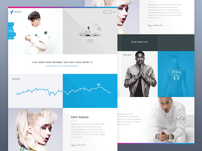 Record Label Landing page (WIP) by Max Peezay