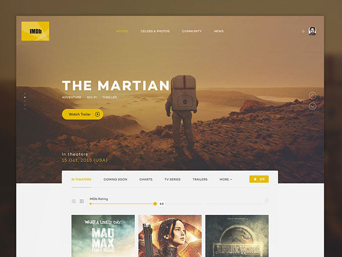 IMDb design concept by George Vasyagin