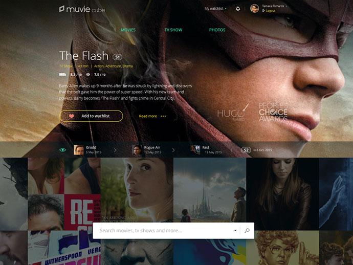 Website for Muvie Cube  by Rustem Sirazetdinov
