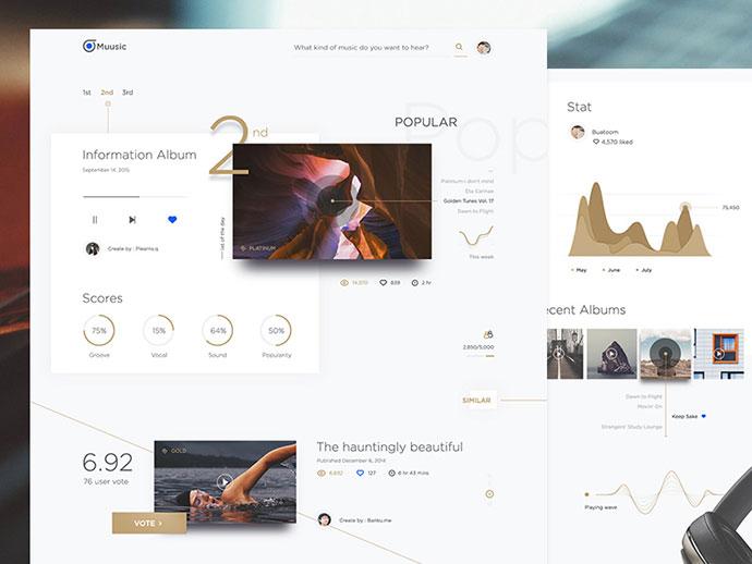Muusic web concept  by buatoom
