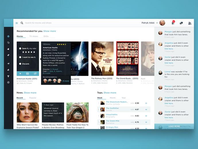 Movie service dashboard by Patryk Adas
