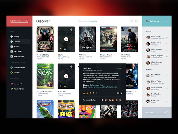 Movie Service UI by Victor Erixon
