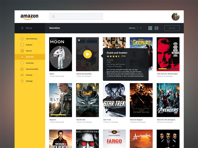 Amazon Streaming Redesign by James Cipriano