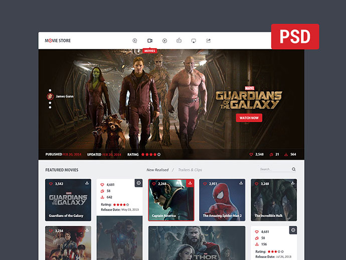 movie store - FREE PSD! by Kenil Bhavsar