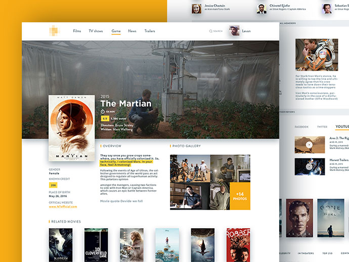 Movie Database Concept by Levani Ambokadze