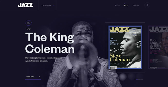 Web site of magazine Jazz by Andrej Krajcir