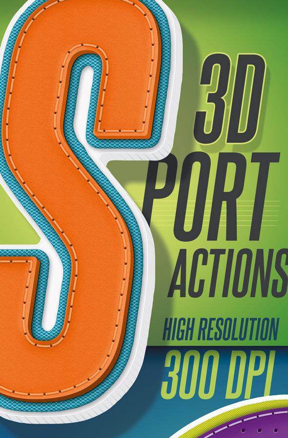 3D Sport Text - Actions