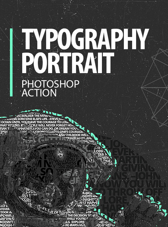 Typography Portrait - Photoshop Action