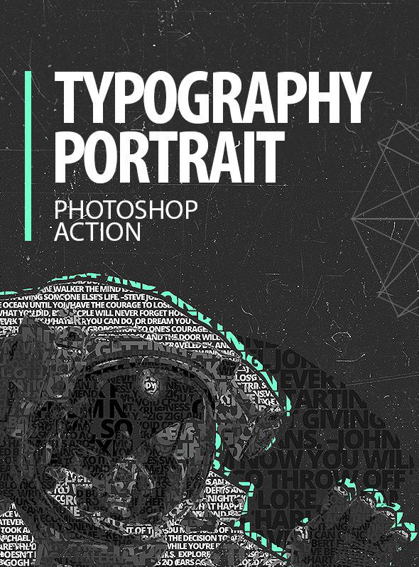 Typography Portrait - Photoshop Action