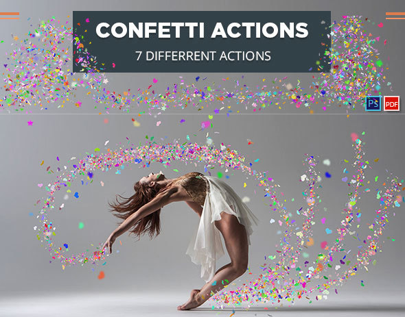 Confetti Photoshop Actions