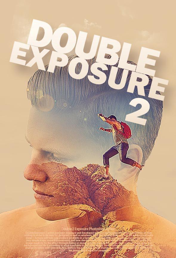 Double Exposure2 Photoshop Action