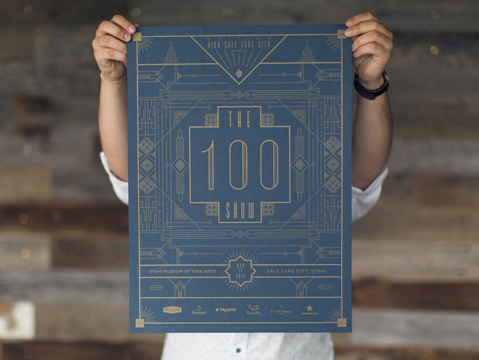 AIGA 100 Show Poster