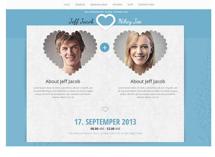 Wedding Slide Responsive Invite Template