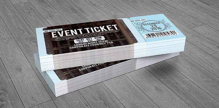 25 Awesome Ticket Invitation Design Templates | Web U0026 Graphic Design |  Bashooka  How To Design A Ticket For An Event