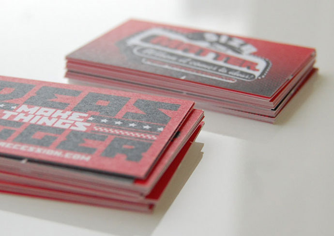 Undersized Recession Business Cards