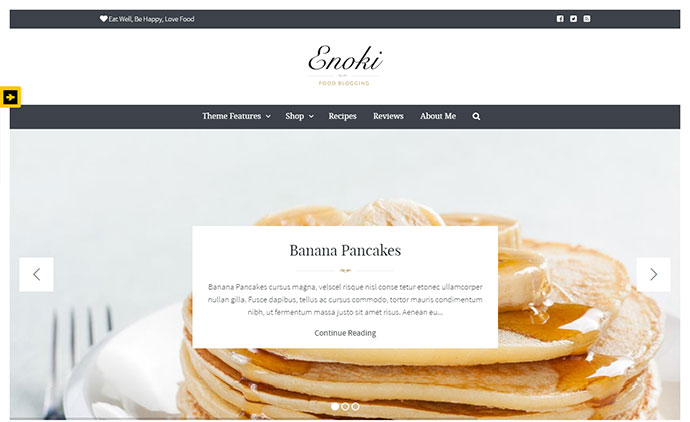 Elegant & sophisticated personal blog for foodies