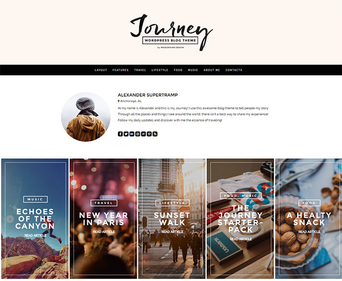 Tell your story to the World with this unique blog theme for Worpress