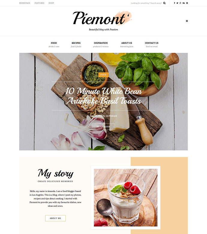 21 best wordpress themes for recipe food cooking blog web one of the fastest clean and aesthetic responsive wordpress blogging themes forumfinder Gallery