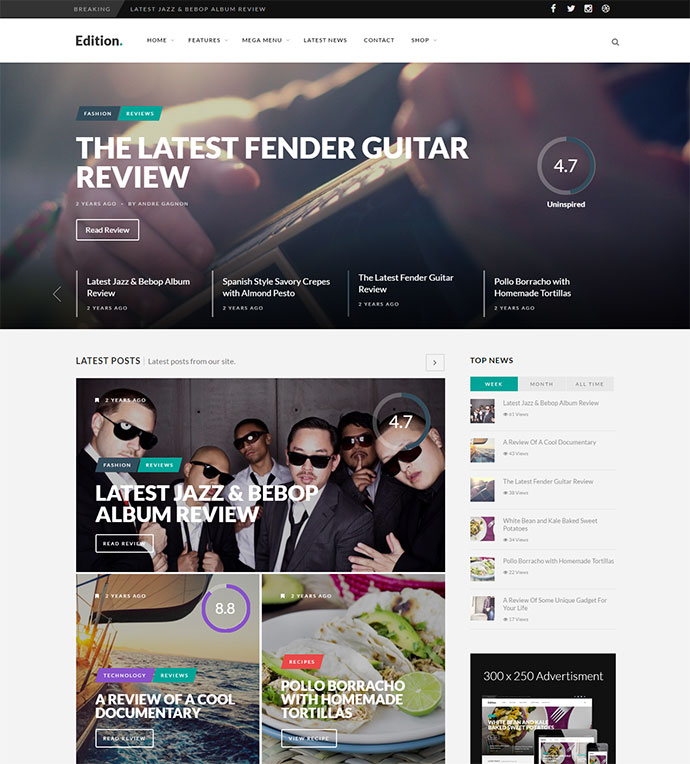 Uniquely responsive news theme for all kinds of publishers
