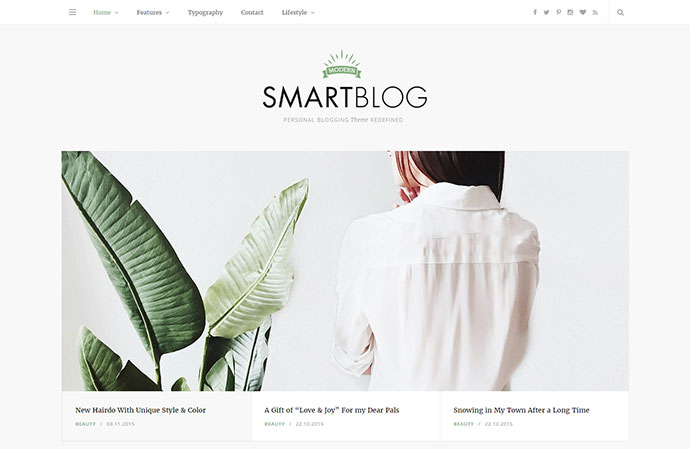 Light and elegant theme tailored to be exceptional on all kinds of blogs
