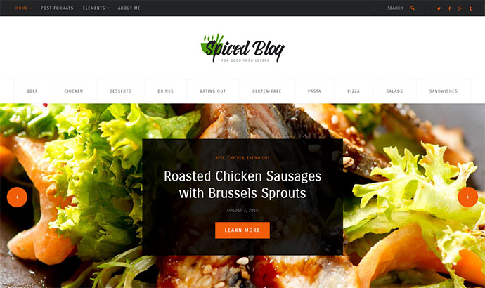 21 best wordpress themes for recipe food cooking blog web cooking and recipes websites spiced blog forumfinder Images